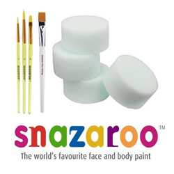 Snazaroo Face Paint Brushes and Sponges