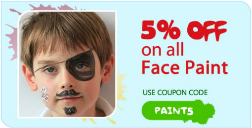 5% off of All Face Paint (Paint5)