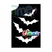 Glimmer Body Art Glitter Tattoo Stencils - Bats (5/pack)