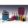 Amerikan Body Art Deluxe Glitter Tattoo Kits - UV/Blacklight (6 Colors)