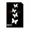 Glimmer Body Art Glitter Tattoo Stencils - Butterflies (10/pack)