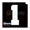 Glimmer Body Art Glitter Tattoo Stencils - Number 1 (10/pack)