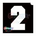 Glimmer Body Art Glitter Tattoo Stencils - Number 2 (10/pack)