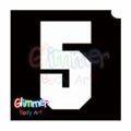 Glimmer Body Art Glitter Tattoo Stencils - Number 5 (10/pack)