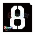 Glimmer Body Art Glitter Tattoo Stencils - Number 8 (10/pack)