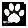 Glimmer Body Art Glitter Tattoo Stencils - Paw (10/pack)