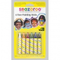 Snazaroo Face Paint Crayons (6 Colors)